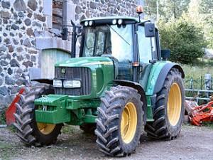 Plaque d'immatriculation de tracteur agricole