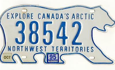 Plaque immatriculation au Canada